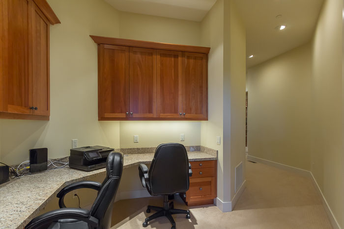 Built in Office Area on Lower Level
