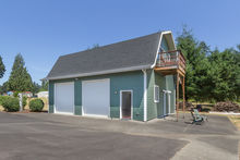 Garage with separate bonus living space