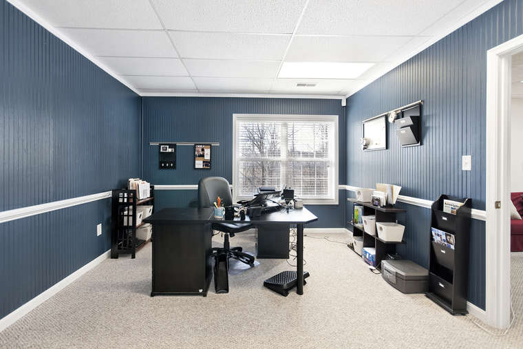 Chair Rail Level Part - 47: ... This Basement-level Bedroom, Currently In Use As A Home-office, Was ...