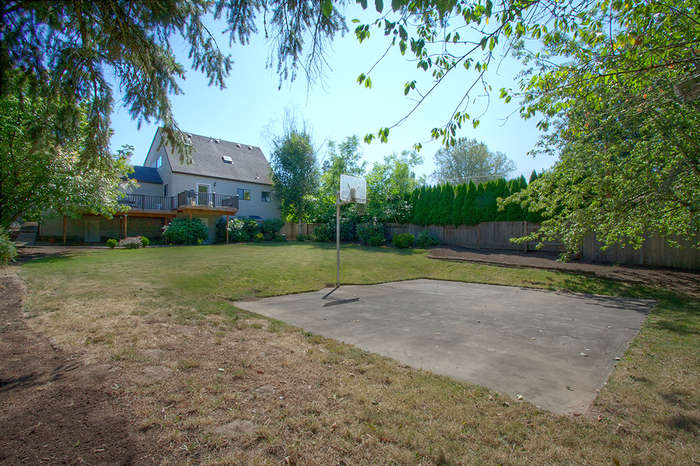 Sport Court, Back Yard, Rear of House