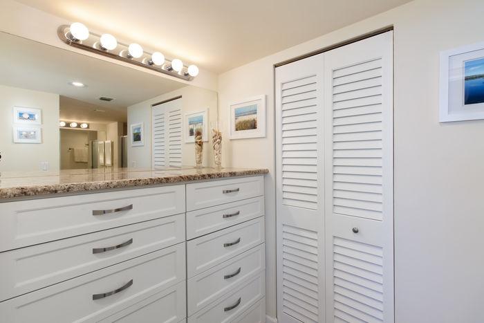 Custom Built-in Dresser in Master Suite
