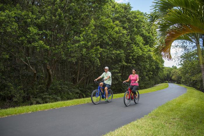 Walk or bike along the berm