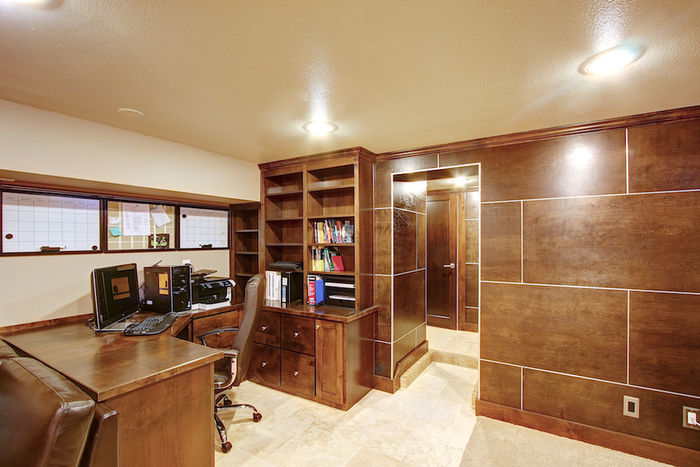 Built-in Office in Family Room