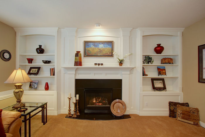 Family Room Built-ins & Fireplace