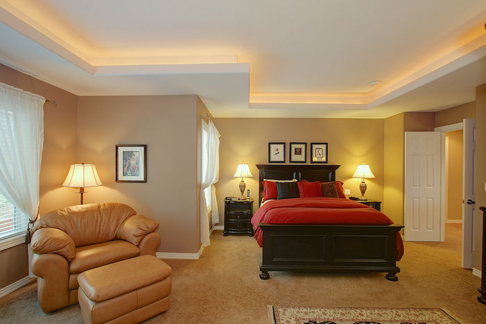 Master Suite with Recessed Ceiling Lighting
