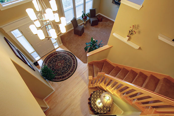 Entrance & Stairwell from Above