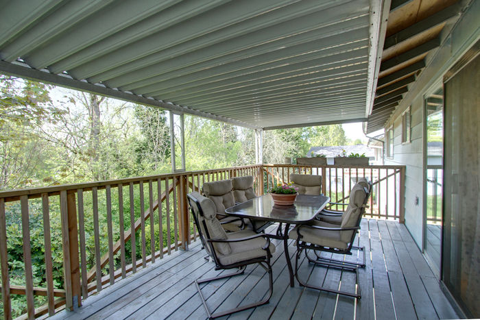 Deck off of dining room