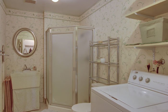 Utility room with full bath