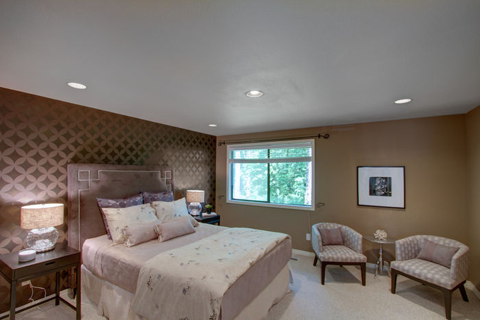 Master Suite with Custom Stencil