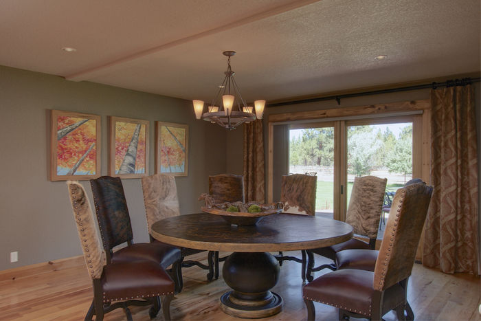 Formal dining room with deck/outdoor entertaining area