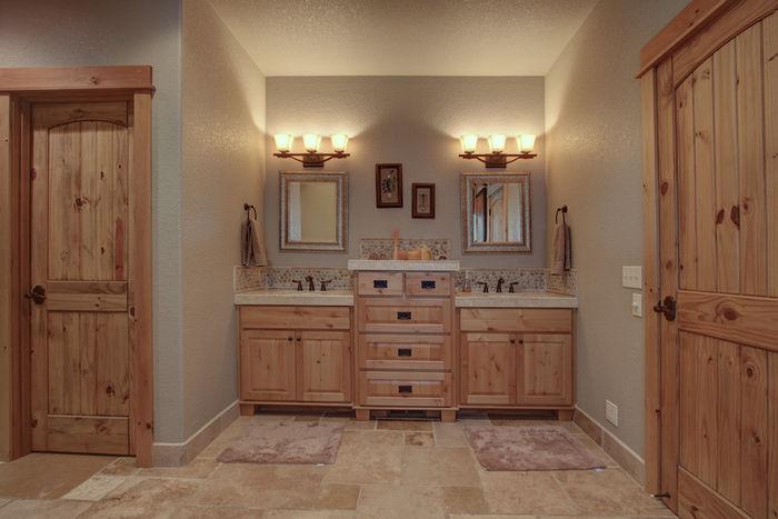 Dual vanity in master bath