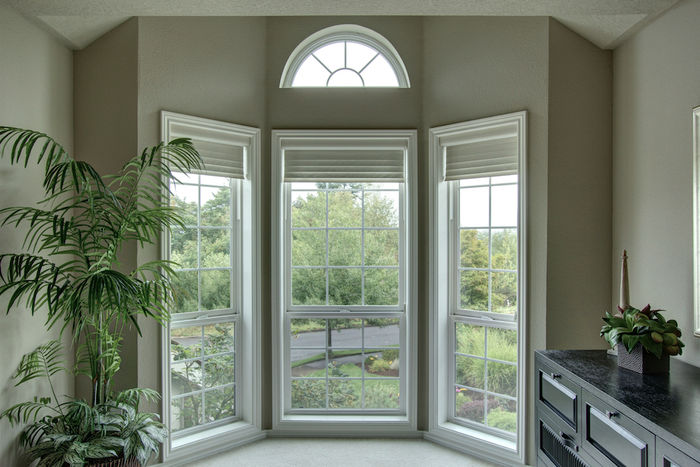 Bay window in master bedroom