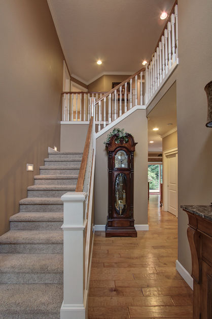 Striking entry and stairwell