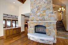 Oklahoma Brown stone on the gas fire place in the great room.