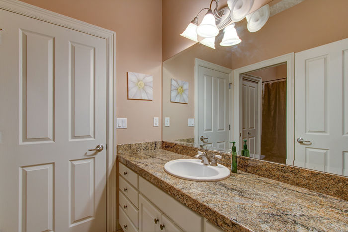 Jack-and-Jill bathroom between 2nd and 3rd bedrooms