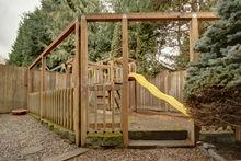 Playground in backyard