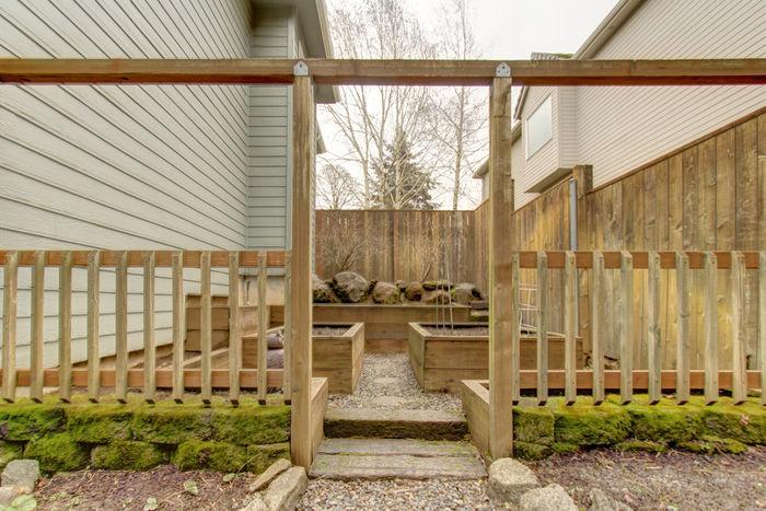 Garden area in backyard