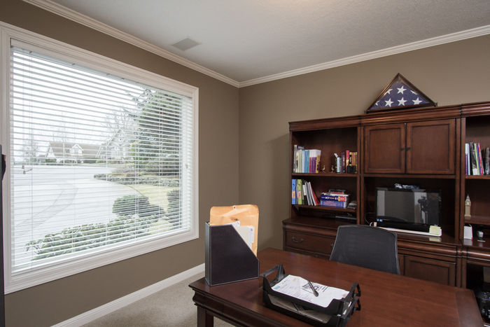 Office/den with French Doors