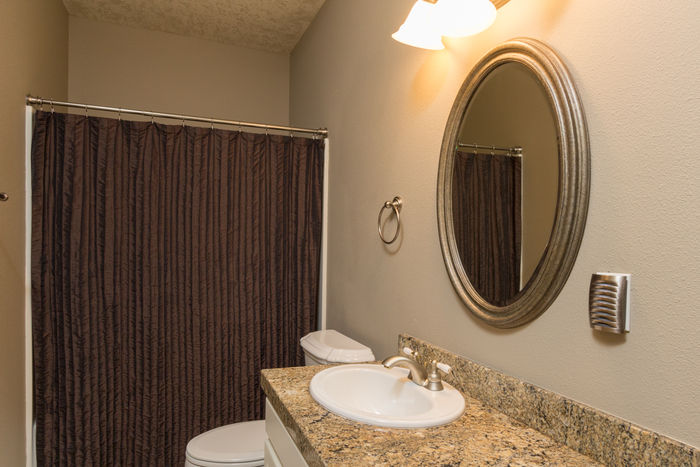 3rd full bathroom off of family room downstairs